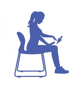 fitness para las piernas sentada