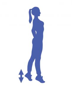 fitness para piernas de puntillas